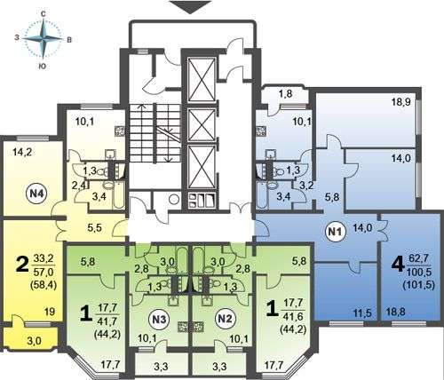 Планировки и наличие квартир – мкр. 16, корп. 29 – Район «Ярославский»