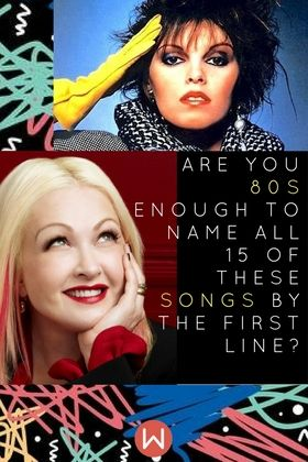Real 80s Challenge: Can you name all these 80s Songs by the first line? Let's Test your 80s knowledge. Opening lyrics of famous pop songs from 80's pop hits from Girls Just Wanna Have Fun to When Doves Cry, Prince, Madonna, Journey,  Bon Jovi, Tom Petty, Michael Jackson, George Michael, A-Ha, Soft Cell, Blondie, Cindy Lauper, Bonnie Tyler, U2, 80s Songs, 80s best, 80s favorites, 80s trivia, 80s quiz.