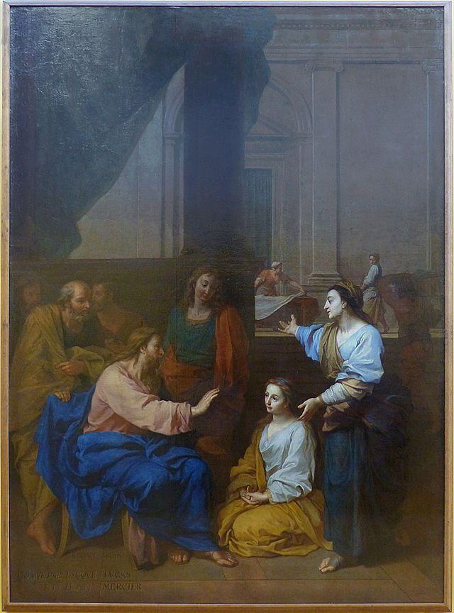 1704 Claude Simpol Le Christ dans la maison de Marthe et Marie Arras, musée des Beaux-Arts