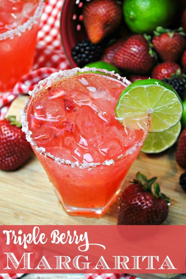 With Cinco de Mayo just around the corner, you'll love this Triple Berry Margarita recipe. Kick back and relax and we'll show you how it's done!