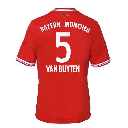 Maillot de Foot Bayern Munich (5 Van Buyten) Domicile Adidas Collection 2013 2014 rouge Pas Cher http://www.korsel.net/maillot-de-foot-bayern-munich-5-van-buyten-domicile-adidas-collection-2013-2014-rouge-pas-cher-p-2398.html