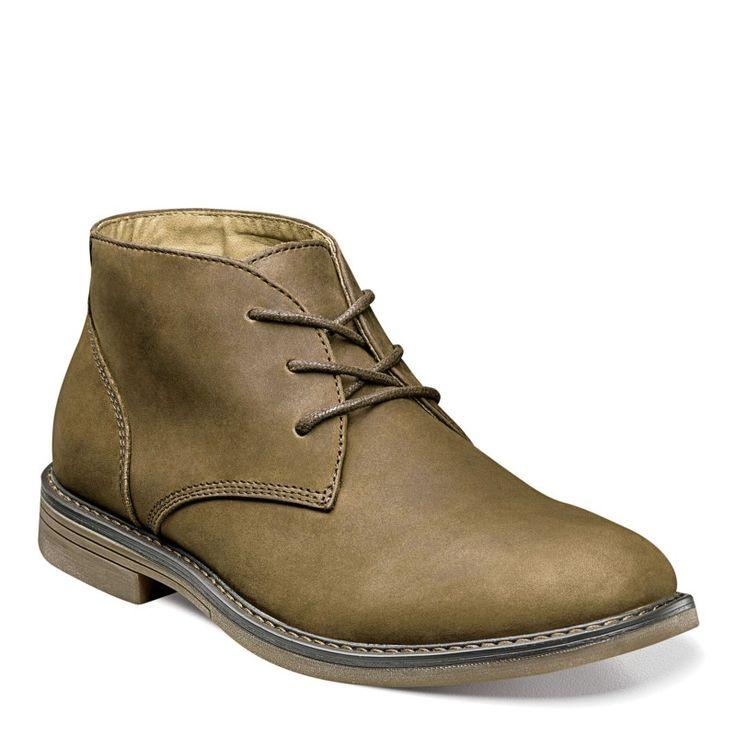 Nunn Bush Men's Lancaster Medium/Wide Plain Toe Chukka Boots (Brown Leather)