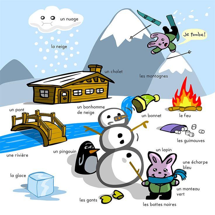 vocabulaire d'hiver en français