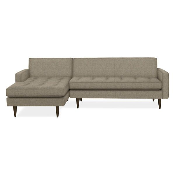Reese Sofas with Chaise - Modern Sectionals - Modern Living Room Furniture - Room & Board