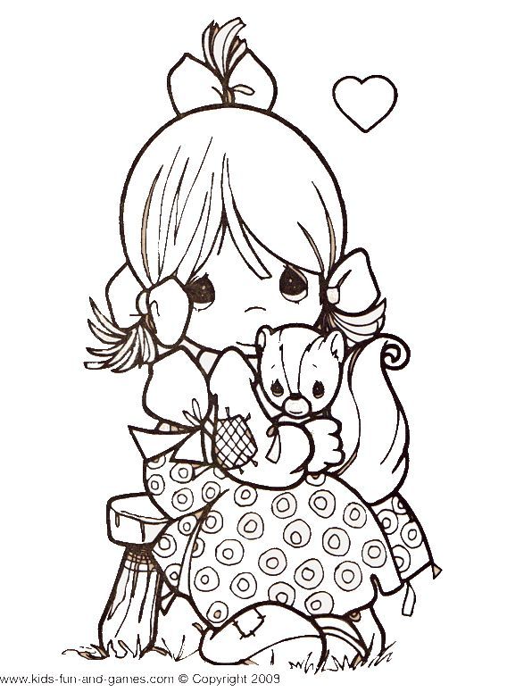Precious Moments coloring page free at www.kids-fun-and-games.com