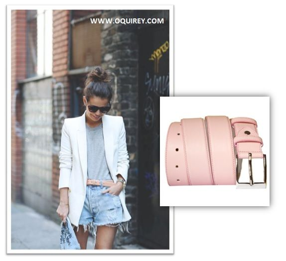 O'Quirey Belt | #streetstyle #pink #belt #summer