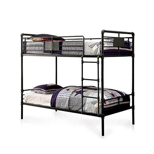 Bowery Hill Full Over Full Bunk Bed In Antique Black Bunk Beds