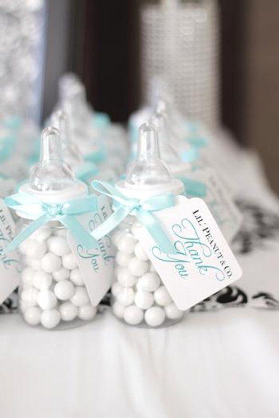 12 plastic stork baby shower favor candy holder blue