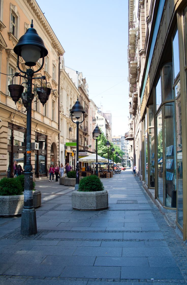 Street in the center of Belgrade, Serbia