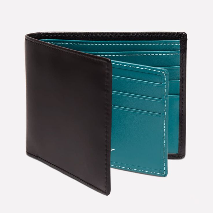 Ettinger London - Luxury Leather Goods - Sterling Billfold Wallet with 12 C/C in turquoise