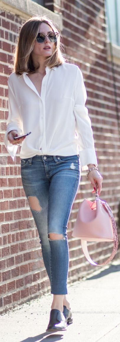 Olivia Palermo wearing Purse – Find Kapoor Sunglasses – Fendi Shoes – Givenchy Jeans – AG Jeans