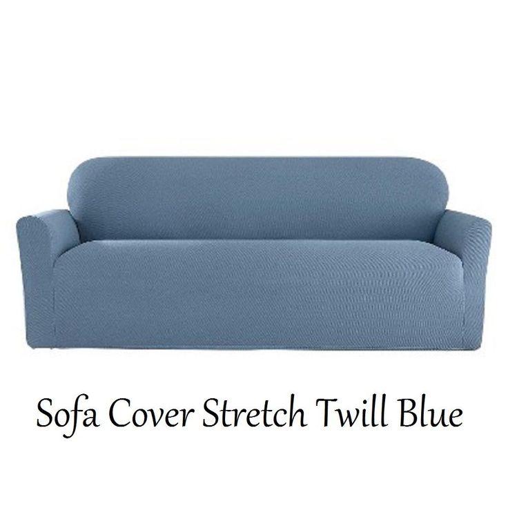 Sofa BedSleeper Sofa NIP Sure Fit Pc Sofa Cover Stretch Twill Blue Fits Variety Sofa Styles