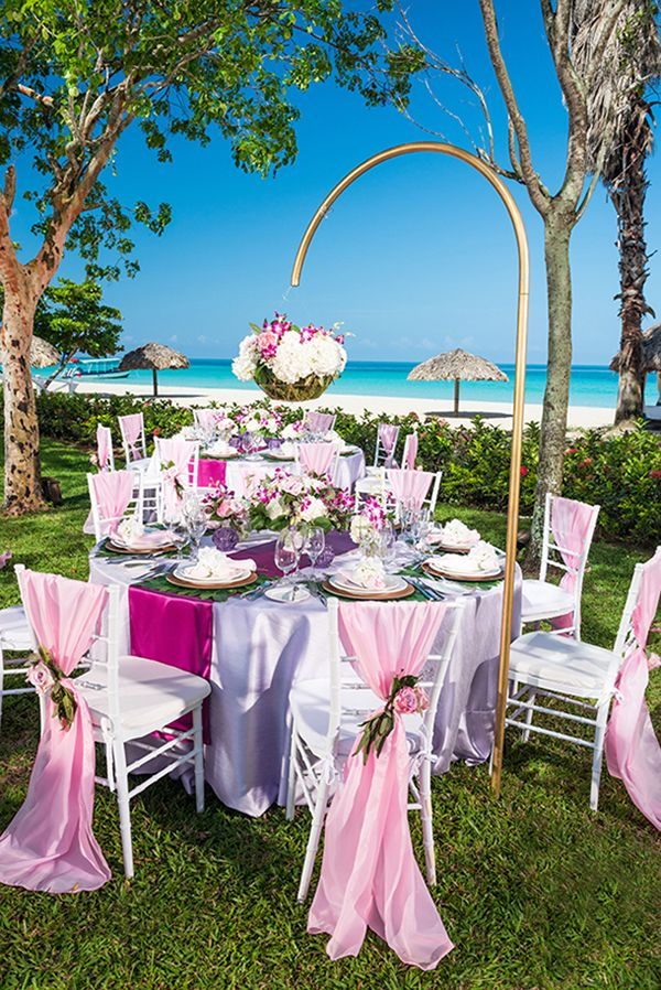 Sandals Resorts Wedding Reception Make It A Of Lifetime With An English Royalty All The Regal Décor Set In Lush Tropical