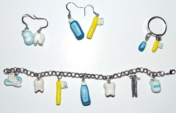 Pearly Whites Jewelry set by SplatterPalette on Etsy, $32.00