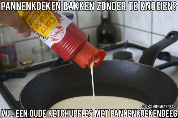 Pannenkoeken bakken zonder te knoeien