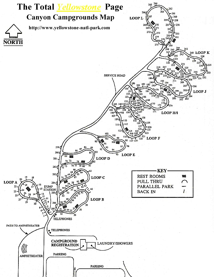 The Total Yellowstone Canyon Campground Map Page | Camping & Great on