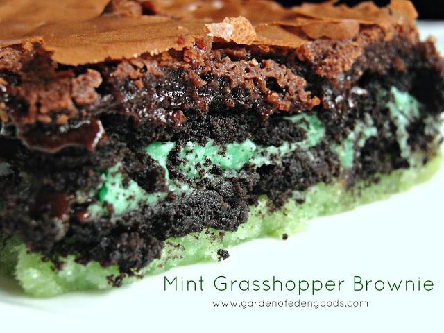 Garden of Eden: Mint Grasshopper Brownies | Desserts (brownies ...