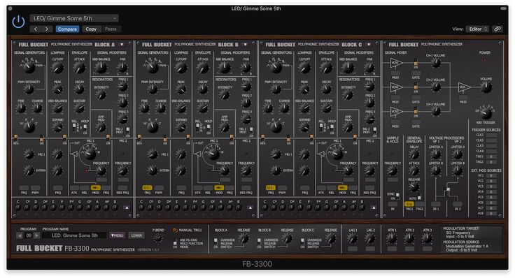 Pick up a free copy of the FB-3300, a free soft synth for Mac based on the rare KORG PS-3300 polyphonic analog synthesizer from the late seventies.