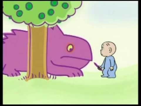 Little David and the Purple Crayon in het engels maar met bewegende beelden