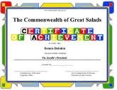 A whole bunch of printable certificates.  This is what I needed at the end of the school year.