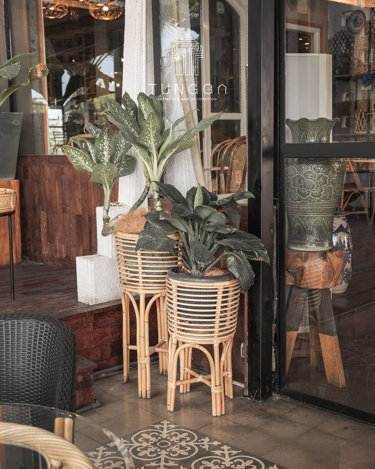 Rattan plant stand . more info or order, contact us via ...