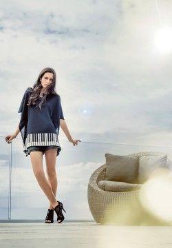 100% Merino Sergio Tunic. Luxury limited edition knitwear. www.elkaknitwear.co.nz