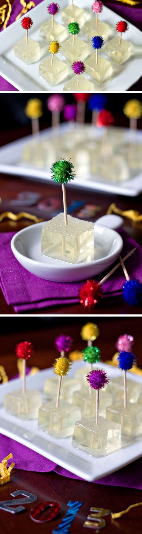 Bubbly Infused Jello Shots | 20 + Last Minute New Years Eve Party Ideas