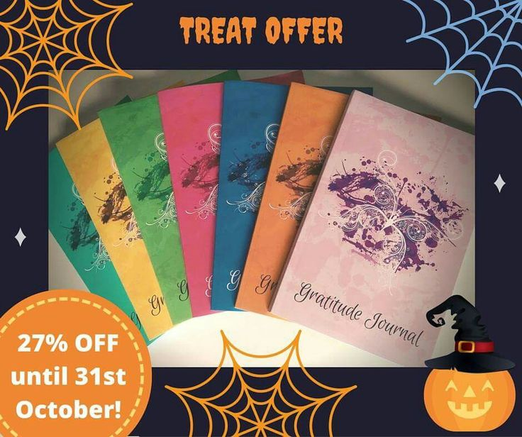 Halloween Treat!  ✨ Last day to enjoy 27% OFF your #Gratitude Journal Butterfly. Help someone get more joy and happiness in their life. Ideal for early Christmas stocking fillers.  http://goo.gl/1QYGHG #xmasgifts #gratitudejournalbutterfly   #mindfulness  #Halloweentreat #christmas