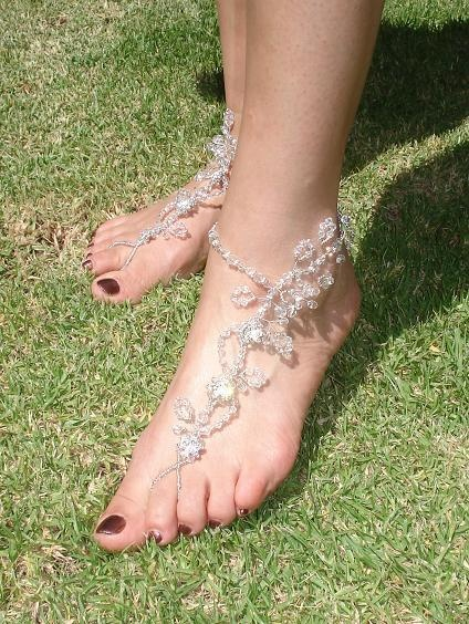 Just because your feet have to be barefoot doesn't mean they can't be pretty too! Foot jewelry
