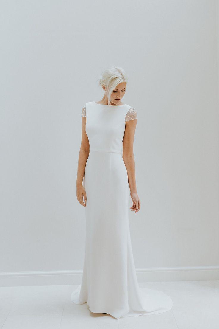 Simple modern wedding dress by Charlotte Simpson