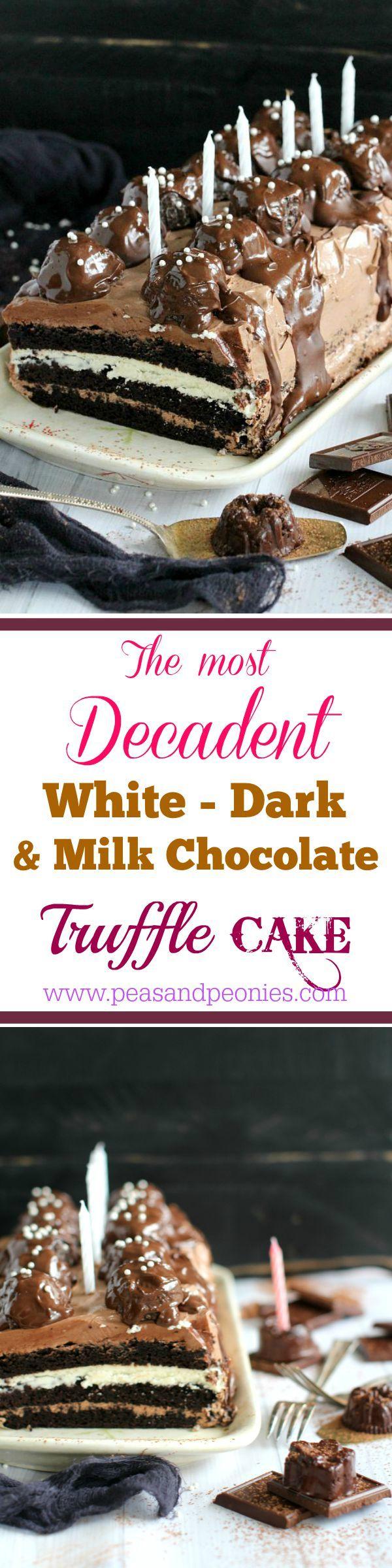 Dark chocolate truffle cake recipe