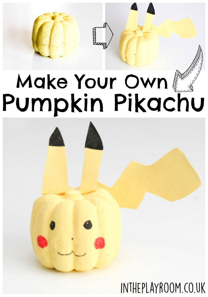 how to make a no carve pikachu pumpkin pumpkin decorationspumpkin ideas halloween