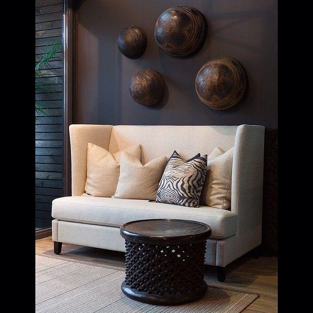 """@slettvoll_no's photo: """"Afrika møter møbelhåndtverk fra Sunnmøre. (Tylor sofa finnes i to høyder og to størrelser. Perfekt både i entre og til spisebord). Foto: @roarnordjensen #slettvoll"""""""