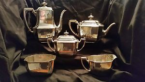 "Beautiful 5 piece Tiffany ""Hampton"" pattern sterling silver coffee service"