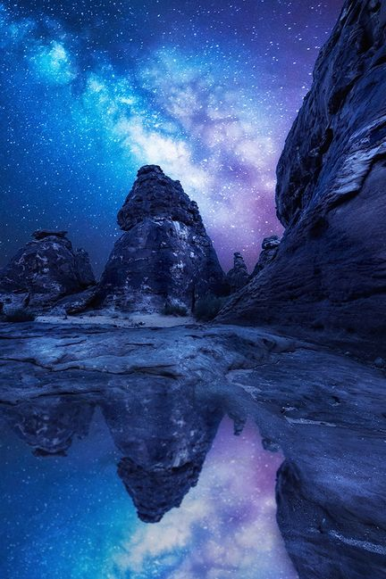 Reflected milkyway, Saudi Arabia, by Meshari Aldulaimi tr3slikes, on 500px. (Trimming)