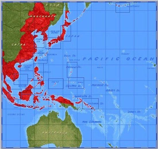 Map - Pacific Ocean Island Groups