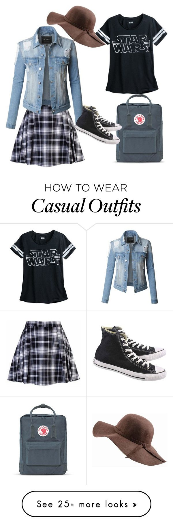 """""""Casual"""" by roosi1618 on Polyvore featuring LE3NO, Fjällräven, N'Damus and Converse"""