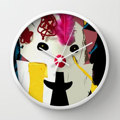 The Mask Wall Clock by Bruce Stanfield - $30.00