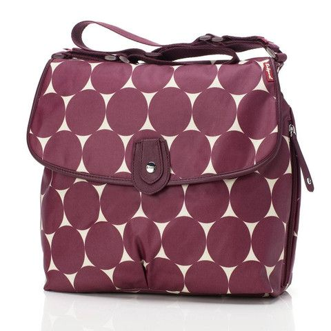 Changing Bags - Babymel Changing Bag - Satchel - Jumbo Dot Cherry
