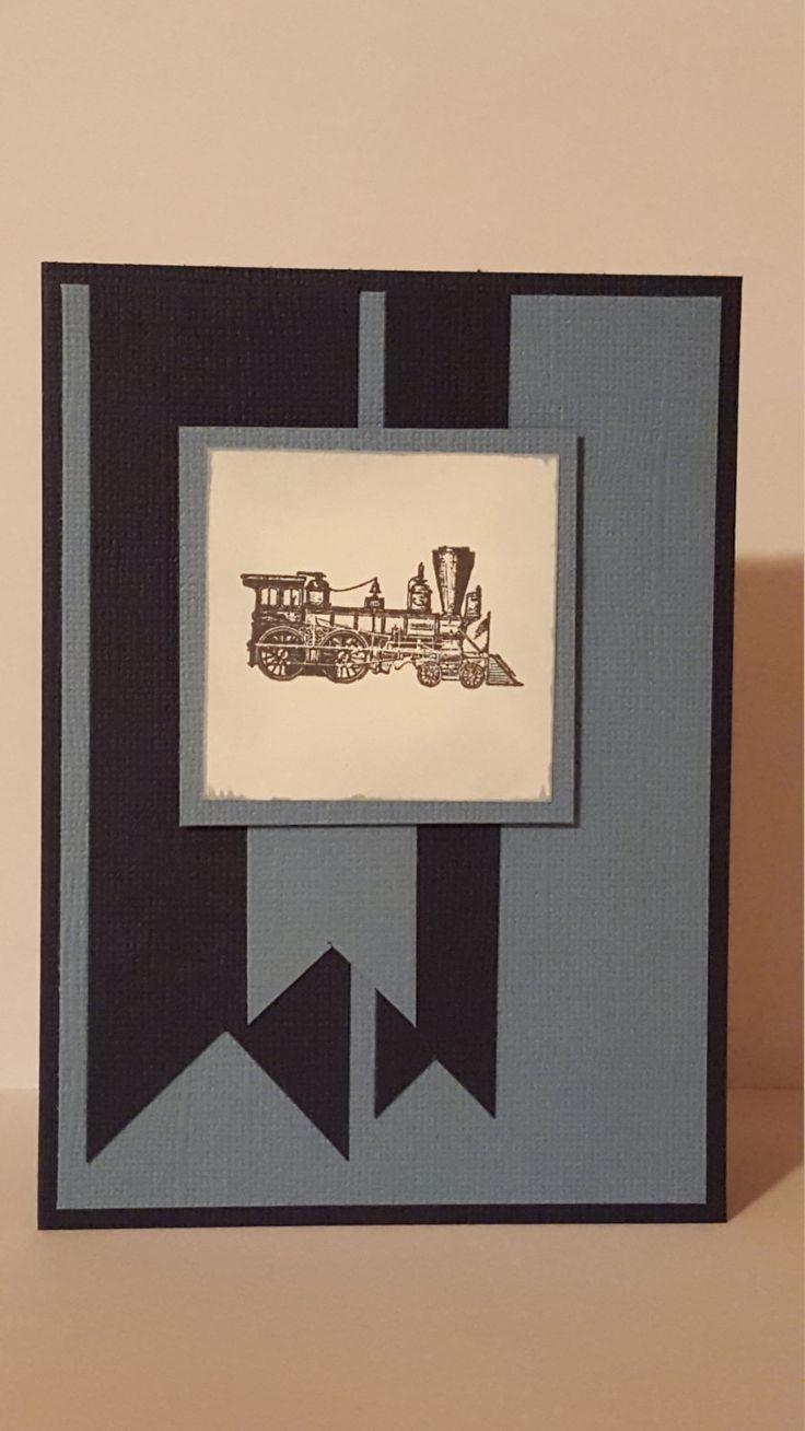 Train Handmade Card by SimoneSaysCardShop on Etsy