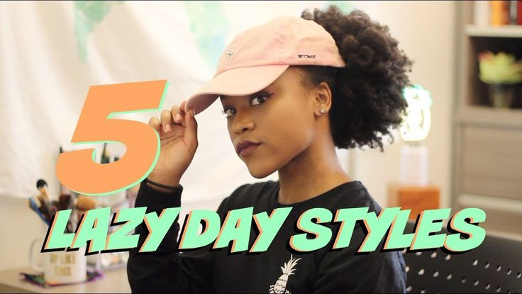 5 Lazy Day Natural Hairstyles for Long 4c Hair  (As I Am Long and Luxe) - YouTube