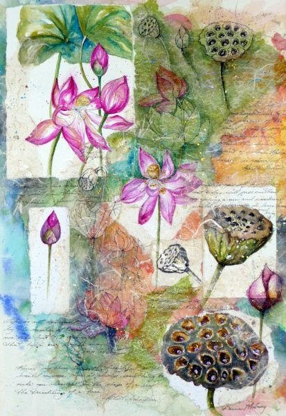 Lotus, Refinement Of Life Art Print by Donna Maloney | Lemon Tree Art