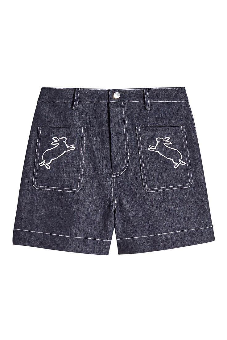 Markus Lupfer - Embroidered Denim Shorts