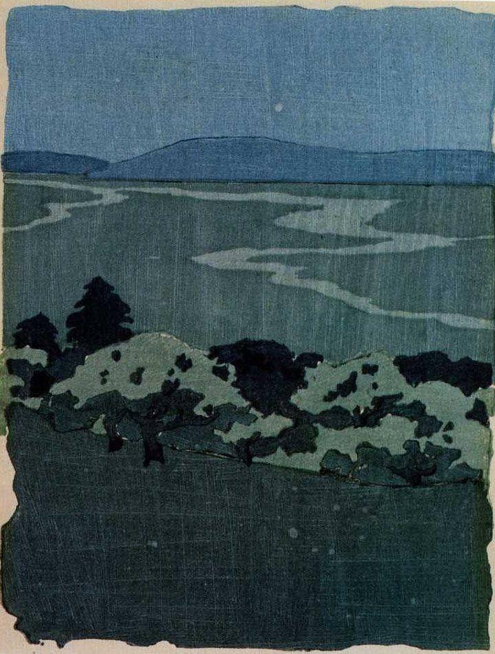 Калифорния - Артур Уэсли Доу, 1905, ксилография.