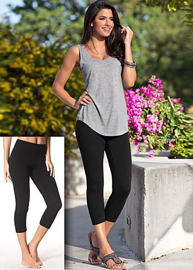 Black band tank, sizes  XS, S, M, L, XL / Capri leggings, sizes S, M, L, XL