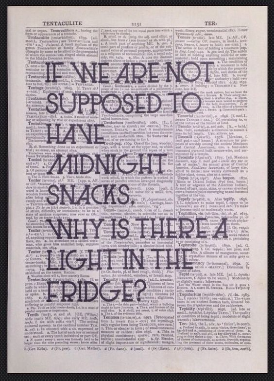 Quirky Funny Kitchen Quote Print Vintage Dictionary Wall Art Midnight Snack Diet in Home, Furniture & DIY,Home Decor,Wall Hangings | eBay