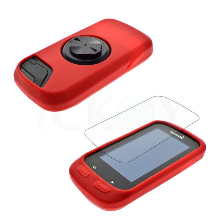 Protect  Silicone Rubber Red Skin Case + LCD Screen Cover Protector For Garmin GPS Edge 1000/Edge Explore 1000 #Affiliate