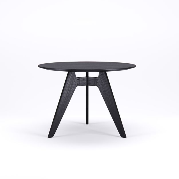 LAVITTA - ROUND TABLE 100 CM - 3-LEGGED BLACK