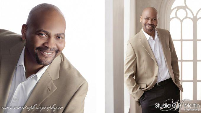 Studio Business photography headshot man white background