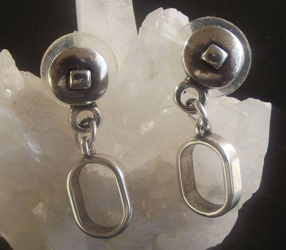 Earrings silver earrings earrings for women by KUARTZ on Etsy, $16.00